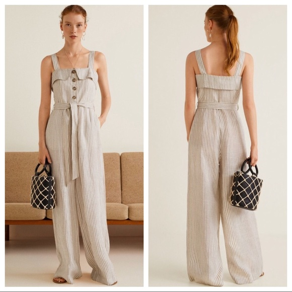 Jumpsuits & Rompers Bnwt Ladies Size 16 Summer Stripped Jumpsuit Clothing, Shoes & Accessories